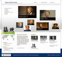 グローバルヘルスサミット ウェブサイト構築